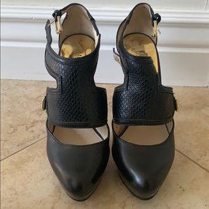 Michael Kors strappy black heels